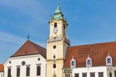 Old Town Hall on Main square in Bratislava, Slovakia. Stock Photo