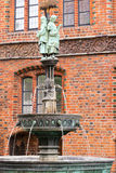 Fountain near Old Town Hall, Hannover Royalty Free Stock Photography