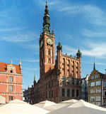 Old Town Hall in Gdansk, Poland Stock Photos