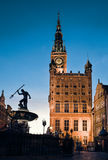 Old Town Hall in Gdansk, Poland. At night Stock Photo