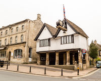 The Old Town Hall A High Street Burford Oxfordshire in the Cotsw Stock Image