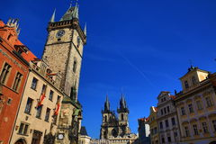 Old town hall, historic buildings, Prague, Czech Republic Royalty Free Stock Image