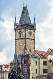 Old town hall with Jan Hus memorial in Prague, Czech republic Stock Photos