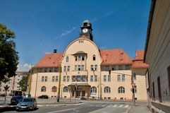 Old Town Hall -  Košice Slovakia. Recently restored one houndred year old building of Old Town Hall catches ones attention by interesting structure, by Royalty Free Stock Photography