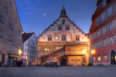 The Old Town Hall in Lindau, Germany. Lindau is a small and attractive village on the german side of Lake Bondensee (also known as Lake Constance). The Old Town Stock Photography