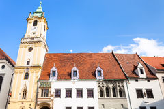 Old Town Hall from Main Square in Bratislava Royalty Free Stock Image