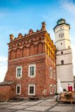 The old town hall and main square in Sandomierz royalty free stock photography