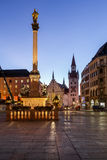 Old Town Hall and Marienplatz in the Morning Stock Photography