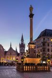 Old Town Hall and Marienplatz in the Morning Stock Images
