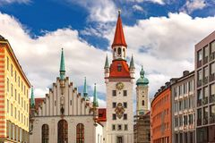 Old Town Hall in Munich, Germany Stock Photo