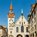 The Old Town Hall in Munich, Germany. MUNICH, GERMANY - JUNE 7, 2016: The Old Town Hall in Munich, Germany. Currently, in significant part of the building is Stock Photos