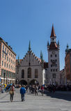 Old Town Hall of Munich at Marienplatz, Germany, 2015 Royalty Free Stock Photography