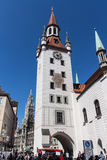 Old Town Hall of Munich at Marienplatz, Germany, 2015 Stock Photography