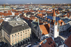 Old Town Hall of Munich at Marienplatz, Germany, 2015 Royalty Free Stock Images