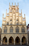 Old town hall of Munster. Facade of old town hall at Munster, Westfalia Royalty Free Stock Photo
