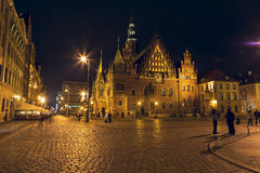 Old Town Hall by night, Wroclaw Royalty Free Stock Photography
