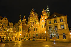 Old Town Hall by night in Wroclaw, Poland Stock Photo