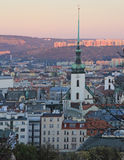 Old town hall and other buildings in Brno. Czech stock photo