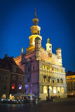Old town hall in Poznan - photo taken at night Royalty Free Stock Image