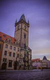 The Old Town Hall in Prague at dawn Stock Images