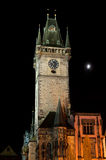 Old town hall in Prague at night Royalty Free Stock Photos