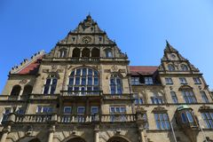 Old Town Hall Rathaus Building  of Bielefeld. Old Town Hall Rathaus Building of Bielefeld,Germany stock photo