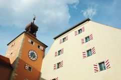 Old town hall of Regensburg,Germany,Bavaria Stock Photography
