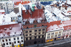 Old Town Hall on Republic Square in Pilsen - aerial view Stock Photos
