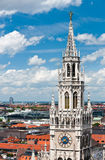 Old Town Hall and rooftops of Munich Royalty Free Stock Photo