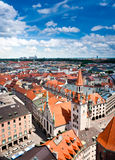 Old Town Hall and rooftops of Munich, Germany Stock Image
