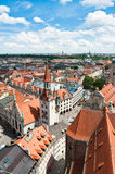 Old Town Hall and rooftops of Munich Stock Image
