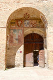 The old town hall at San Gimignano on Italy Stock Photo
