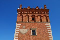 Old town hall in Sandomierz, Poland. Stock Photo