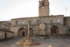 The old Town hall square in historic portuguese village of Castelo Novo
