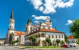 Old Town Hall and St. James church in Levoca, Slovakia. Old Town Hall and St. James church in Levoca. A UNESCO wold heritage site in Slovakia royalty free stock photography