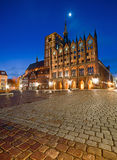 Old Town Hall and St. Nicolas Church in the evening, Stralsund Royalty Free Stock Images