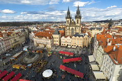 Old Town Hall (Staromestske namesti) in Prague, the capital of the Czech Republic Royalty Free Stock Photos