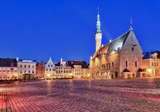 Old Town Hall in Tallinn Royalty Free Stock Photo
