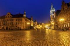 Old Town Hall in Torun. Torun, Kuyavian-Pomeranian Voivodeship, Poland stock photos