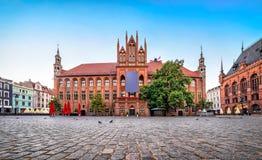Old Town Hall of Torun, Poland. Gothic facade of Old Town Hall of Torun located on Old Market square, Poland Stock Photography