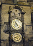 Old Town Hall Tower and Astronomical Clock at night Prague Czech Royalty Free Stock Images