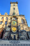 The Old Town Hall Tower with the Horologe, Prague, Czech Republi Royalty Free Stock Image