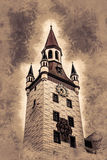 Old Town Hall Tower in Munich, Germany. Royalty Free Stock Photography
