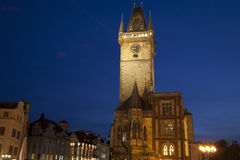 Old Town Hall Tower in Old Town Square, Prague; Czech Republic; Royalty Free Stock Photos