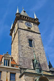 Old Town Hall Tower in Prague Royalty Free Stock Photos
