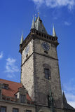 Old town hall tower Royalty Free Stock Images
