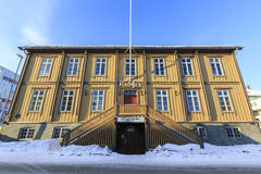 Old town hall of Tromso Stock Photos