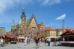 Old Town Hall in Wroclaw - Poland. Stock Photos