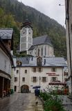 Old town of Hallstatt, Austria stock photography