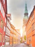 Old town in Hannover. Old town and Marktkirche church in Hannover Stock Photography